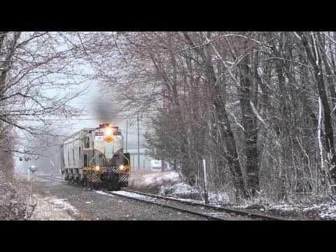 Falls Road Railroad ALCO RS-11 #1802 Departs Westbound From The Medina Ethanol Plant 4-15-14