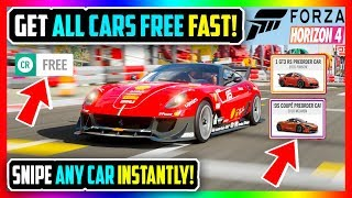 ALL CARS FREE FORZA HORIZON 4 SNIPE ANY CAR FAST! *NEW BEST METHODS!*