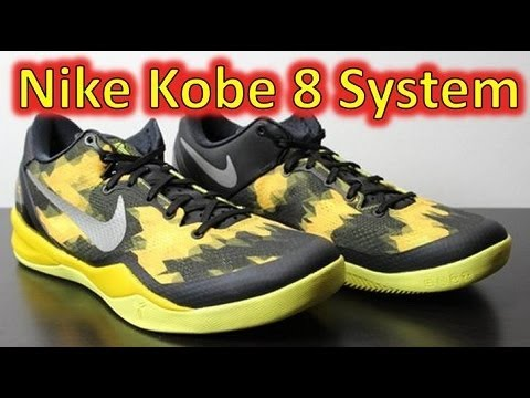 02198516784e Nike Kobe 8 System Black Street Grey Vivid Sulfur - Review + On Feet ...