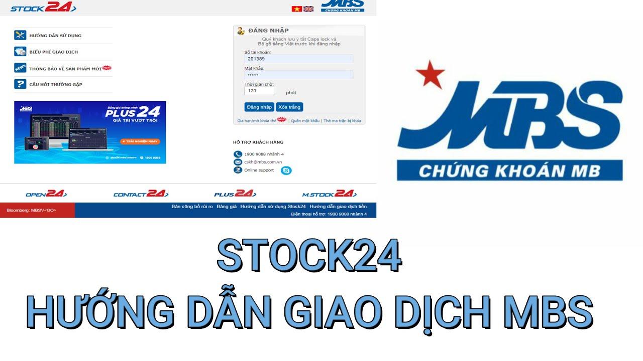 STOCK24 PHẦN MỀM GIAO DỊCH – CHUYỂN TIỀN TẠI MBS   HƯỚNG DẪN GIAO DỊCH TẠI MBS #4