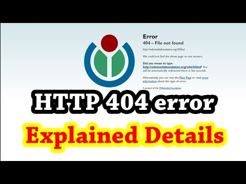 Error 404 not found - HTTP Response code explained in details