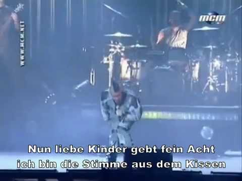 Rammstein - Mein Herz Brennt [Live] {German Deutsch Subtitles Lyrics On Video}