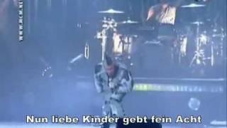 Repeat youtube video Rammstein - Mein Herz Brennt [Live] {German Deutsch Subtitles Lyrics On Video}