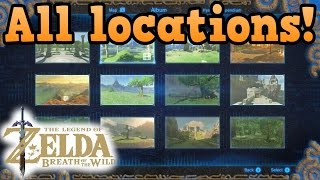 All photo memory locations! - Legend of Zelda breath of the wild guides
