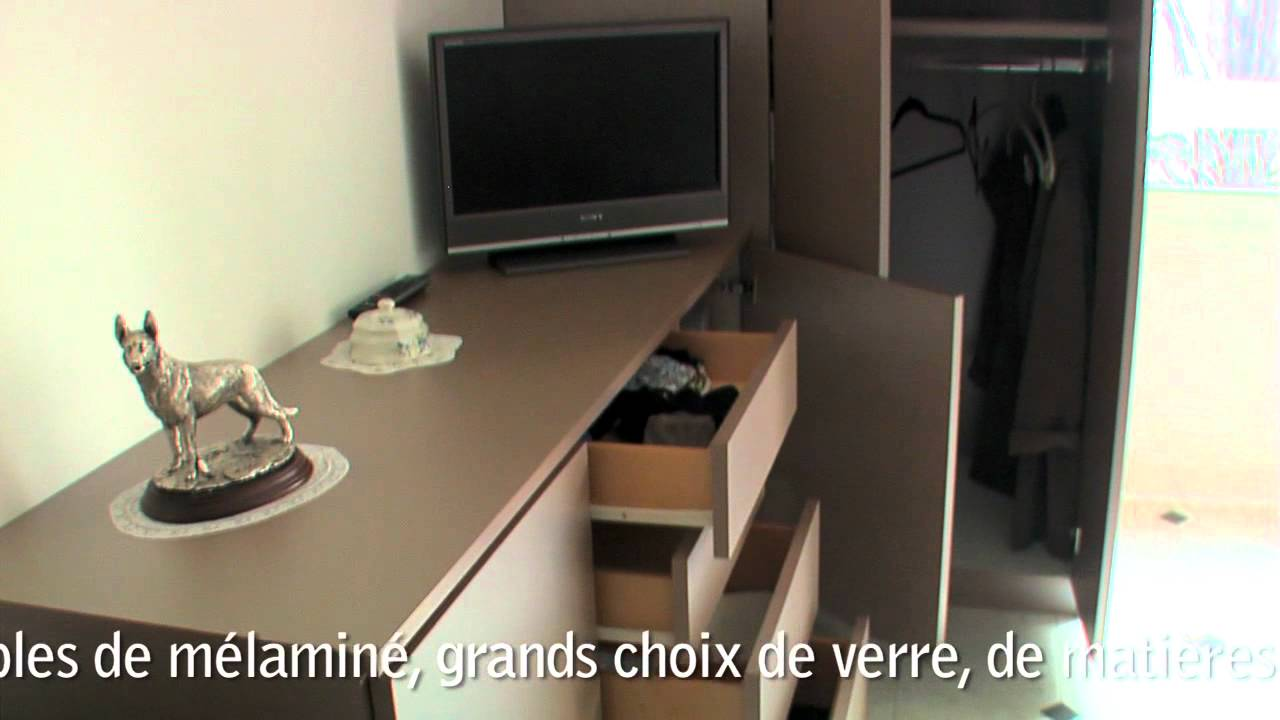 lignes et volumes paris 15 meubles sur mesure youtube. Black Bedroom Furniture Sets. Home Design Ideas