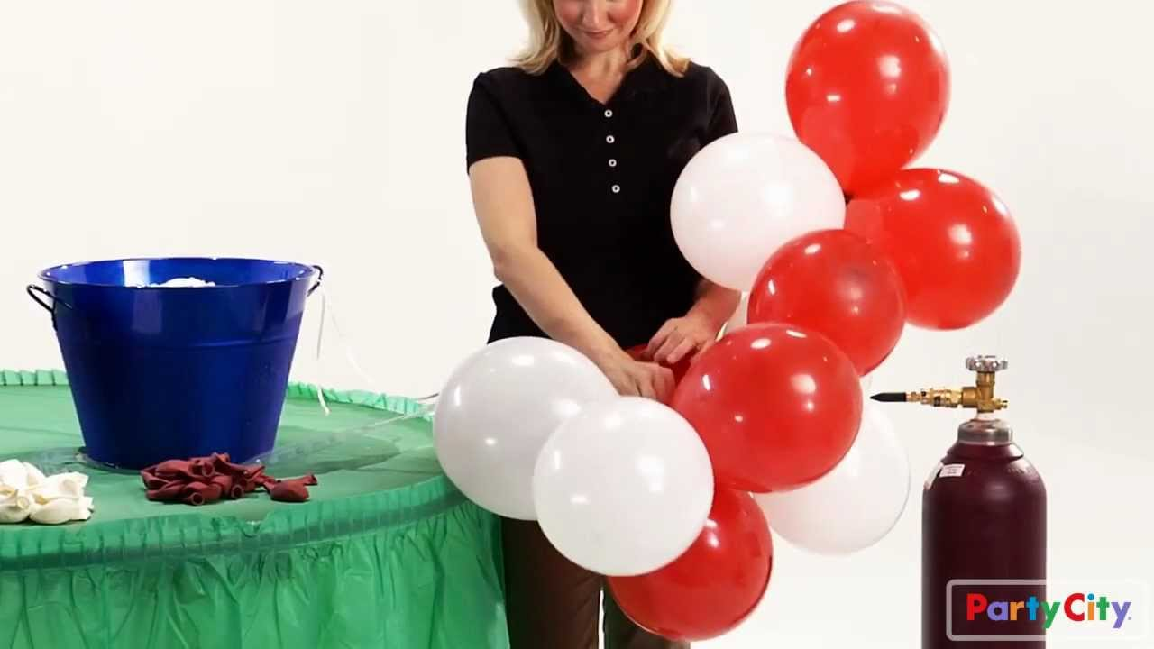 How to make a balloon arch for your party youtube for Balloon decoration ideas no helium