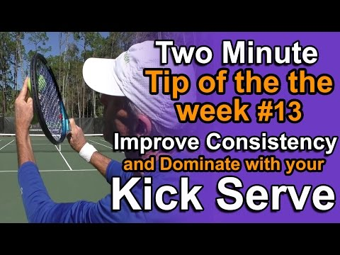 Tennis Lessons - Topspin or Kick serve For Consistency