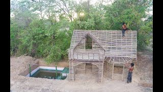 Tine tv : Building single private structure house by using bamboo & wood