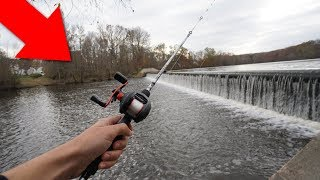 Fishing FLOODED Spillway for MONSTERS!!