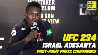 UFC 234: Israel Adesanya Reacts to Anderson Silva Win, What