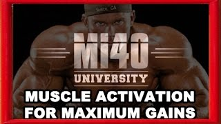 Muscle Activation for Maximum Muscle Growth and Gains, Shoulder Training Ben Pakulski