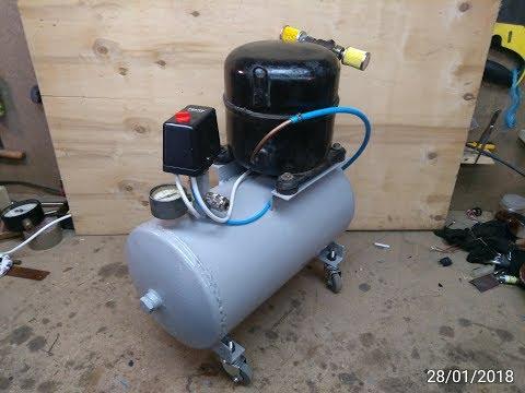 Компресор з холодильника для майстерні 380V (Compressor From The Refrigerator For The Workshop)