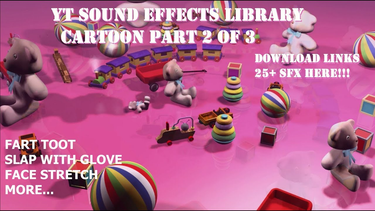 SFX:Cartoon - Snippets Copyright Free YouTube Audio Library Sound Effects  25+ Part 2 of 3