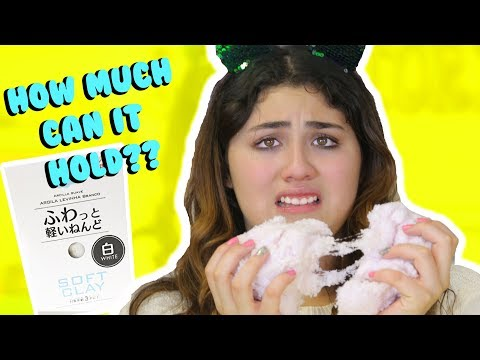 HOW MUCH CAN SLIME HOLD PART 3 | Daiso clay, fake snow, Diaper | Slimeatory #174