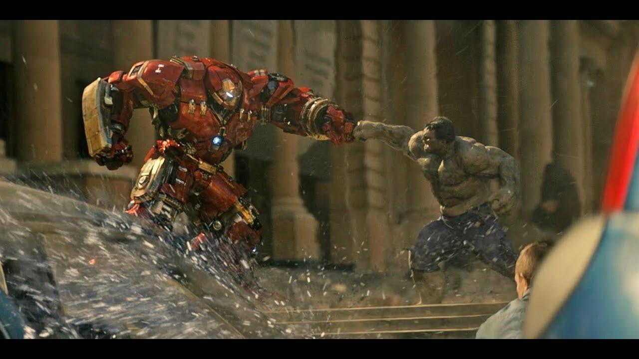 Download Iron man Vs Hulk - Crazy fight scene  tera baap aaya mix (avengers - age of Ultron)