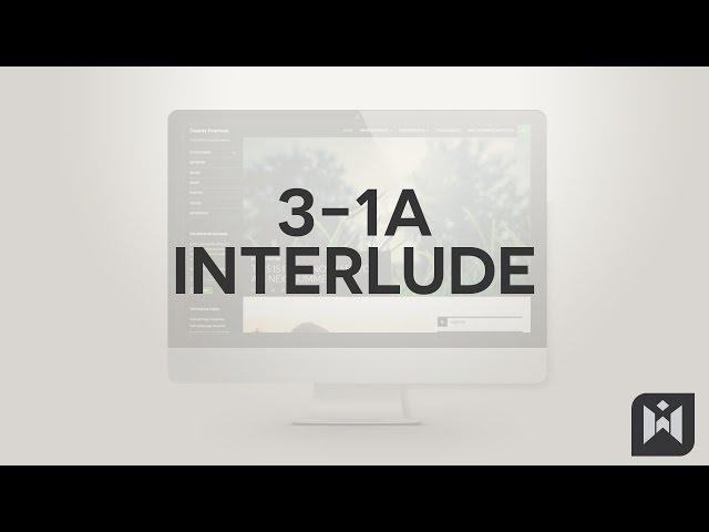 WordPress for Beginners 2015 Tutorial Series | Chapter 3-1A: Interlude Theme Switch
