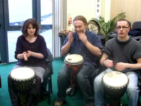 Voluntary sector drum circle