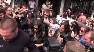 Scott Disick, Kim Kardashian and Kourtney Kardashian at the l'Avenue restaurant