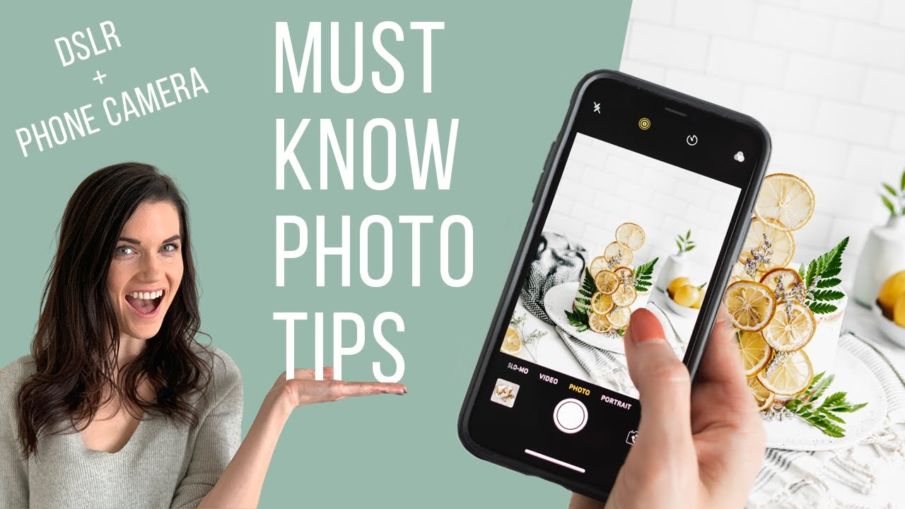 TOP 5 PHOTO TIPS for food + product photos