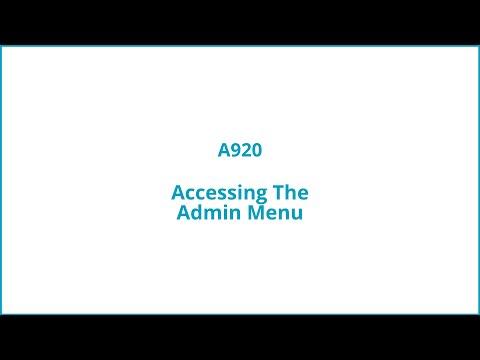Accessing the admin menu