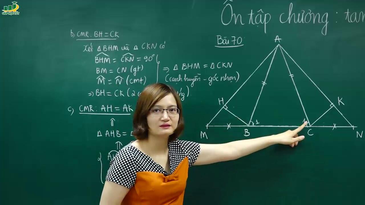 Toán Lớp 7-Ôn tập Tam giác chuyên đề các trường hợp bằng nhau của tam giác, tam giác vuông T1 (2/2)