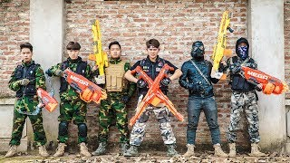 LTT Game Nerf War : special Mission Winter Warriors Nerf Guns Fight Criminal group Rocket