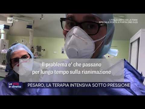 Coronavirus. Pesaro, la terapia intensiva sotto pressione - La vita in diretta 06/03/2020
