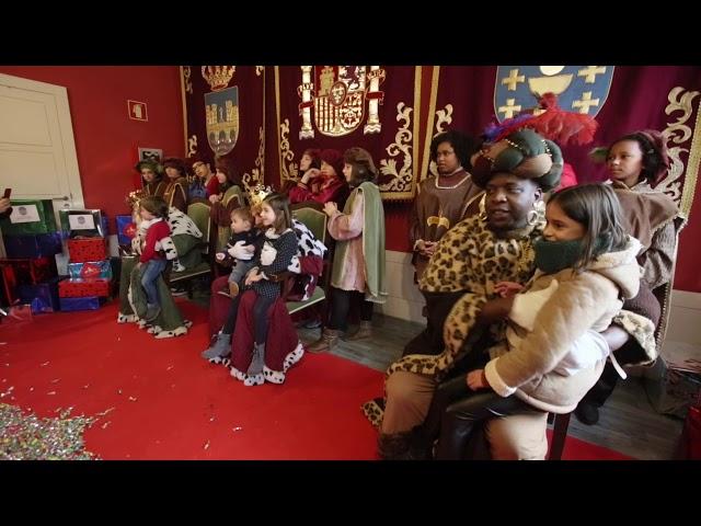 Recepción de los  Reyes Magos en el Pazo de Mugartegui