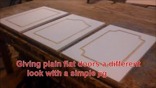Giving plain flat doors a different look with a simple jig