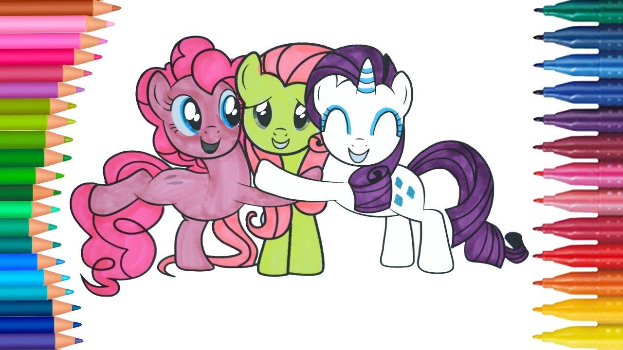 My Little Pony Boyama Sayfası Ile Renkleri öğreniyorum çocuklar