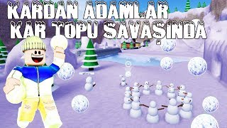 FIGHTING SNOWMEN ☃ ☃ SNOWBALL FIGHT ️ ️ FUN ROBLOX ENGLISH SiMULATOR ☃ ️ NEW 2018