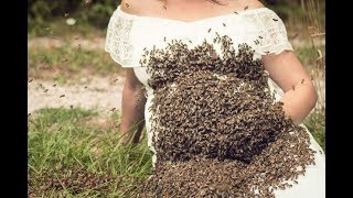 Pregnant Woman Poses With 20,000 Live Bees For Crazy Maternity Photoshoot | Muhammad Waqas