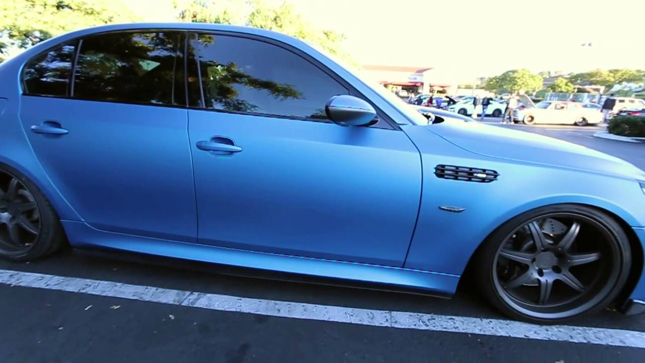 Bmw E60 M5 Matte Blue Full Wrap Youtube
