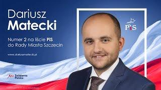 Dariusz Matecki: kandyduję do Rady Miasta Szczecin! Pierwszy vloger-radny?