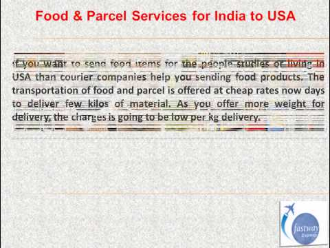 India to USA Courier Services -- www.fastwayindia.com
