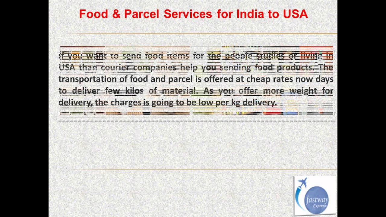 India to USA Courier Services -- www fastwayindia com