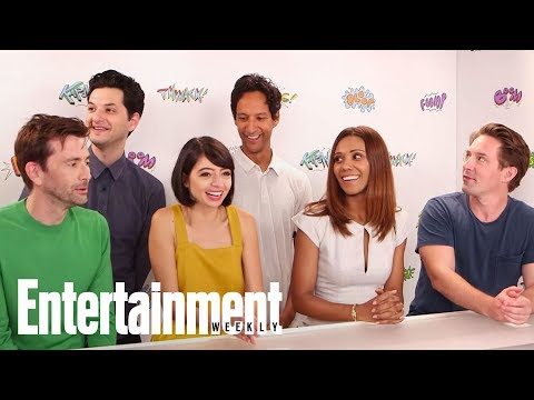 The DuckTales Cast On Getting To Jump In A Real Pit Of Coins | SDCC 2017 | Entertainment Weekly