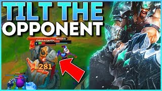 #1 CHALLENGER TRYNDAMERE MID KNOWS HOW TO TILT HIS OPPONENT!!
