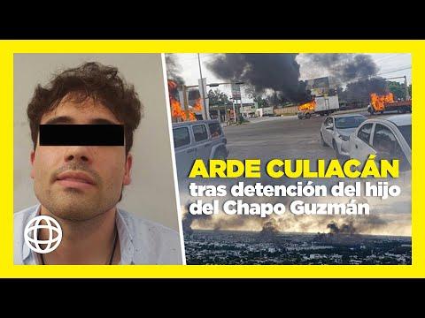 Arde Culiacán tras la detención del hijo del Chapo