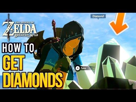 Zelda: Breath Of The Wild -How To Get Diamonds FAST | Luminous Stone Gathering