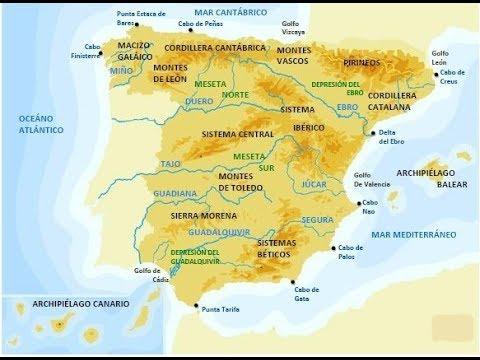 Cordillera Betica Mapa Fisico.Cancion De Las Montanas Y Los Mares Youtube