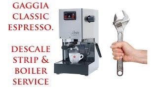 Gaggia Classic Full Service and Descale, Boiler Strip, Seals