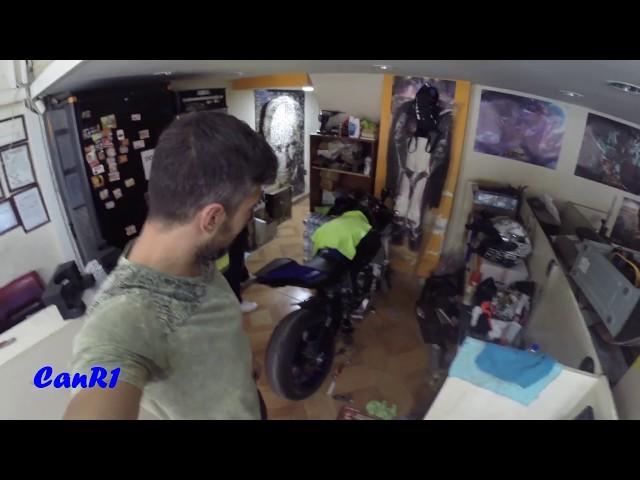 Yamaha R1 Two Brothers Racing SR1 Egzoz Montajı & Ses  install & sound & exhaust