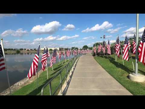 2015 911 flags fly in Odessa