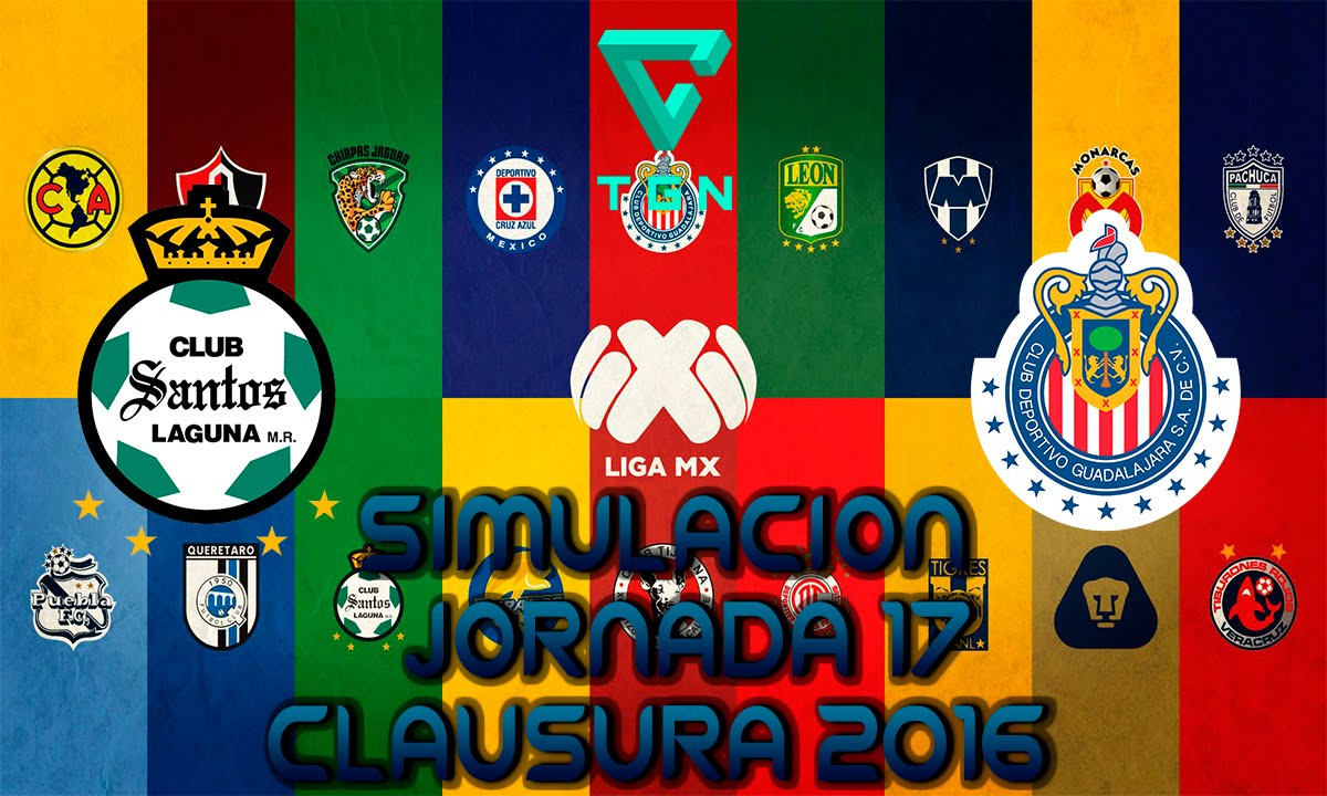 Santos Vs Guadalajara Simulacion Gameplay Jornada 17