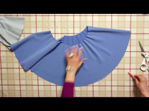 Как сшить юбку на кокетке солнце