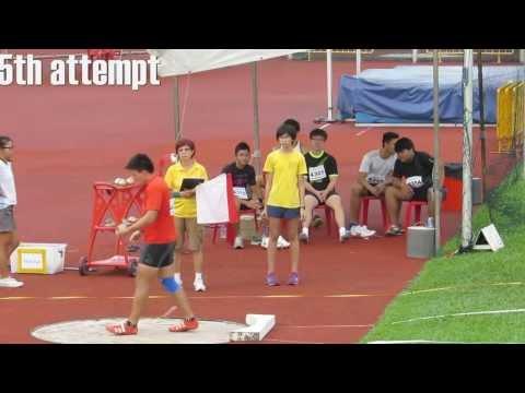 Wong Kai Yuen 18.22m - New men shot put 6kg national junior record