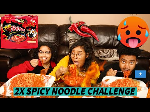 SPICY NOODLE CHALLENGE 2020 || WITH MY COUSINS ||