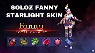 SOLO RANK FANNY STARLIGHT SKIN + GAMEPLAY