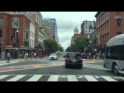 Driving Downtown - 7th Street - Washington DC USA